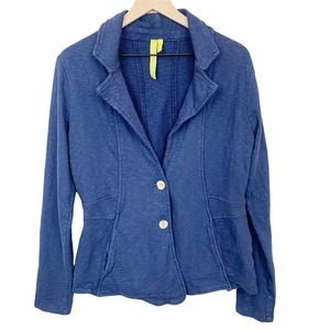 Green Dragon Blazer Jacket Lightweight Collared Casual Blue Size Large Pockets